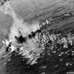 Beaufighter of No. 404 squadron code EE-C attacking German ship North Sea