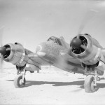 Bristol Beaufighter Mk IC T3314 code 'O' of No. 272 Squadron RAF running up its engines at Idku Egypt
