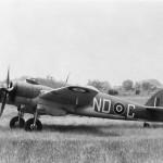Bristol Beaufighter Mk IC T4800 code ND-C of No 236 Squadron RAF on the ground at Wattisham Suffolk 12 June 1942