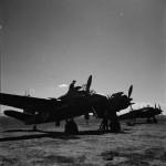 Bristol Beaufighter Mk VIF of No 255 Squadron RAF undergoing maintenance at Setif Algeria