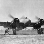 Bristol Beaufighter Mk VIF of No. 27 Squadron RAF piloted by Flying Officer D. J. Innes as he prepares to take off at Agartala India
