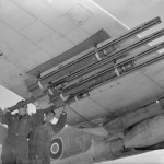 Bristol Beaufighter TF Mk X code 'G' of No. 404 Squadron RCAF armed with rockets