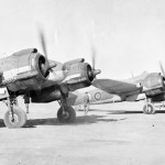 Bristol Beaufighter TF Mk X of No 603 Squadron RAF running up their engines at Gambut 3 Libya 1943