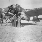 Mechanics servicing Italian Beaufighter Mk IC X7887 Catania