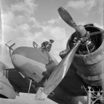 W/C Green of No 600 Squadron RAF at Cassibile Italy Beaufighter Mk VIF V8762 'A'