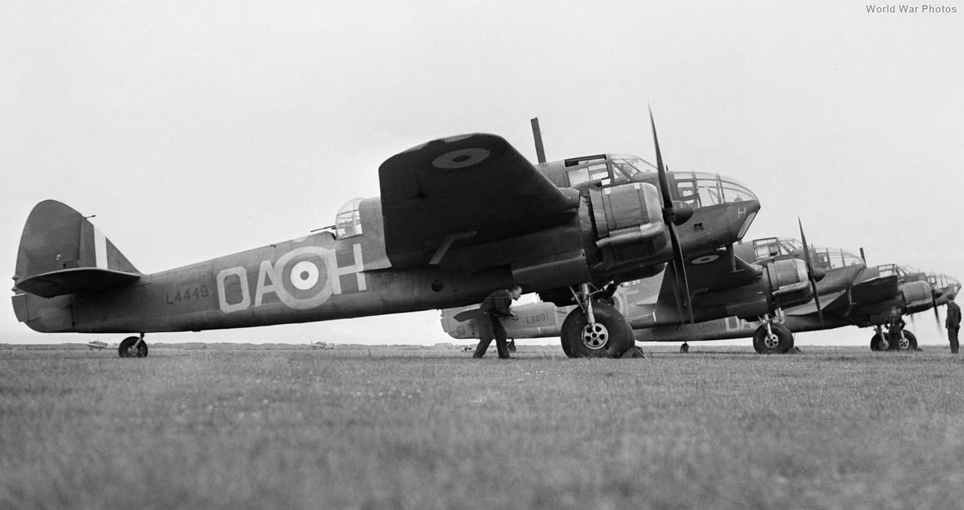 Beauforts L4449 OA-H, L9891 OA-F and L4461 OA-J, of No. 22 Squadron RAF