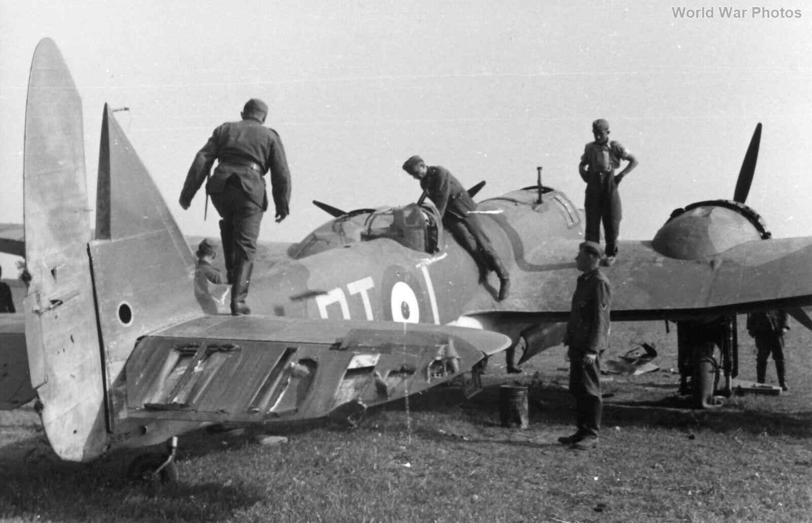 Blenheim 114 Sqn France inspected by Germans