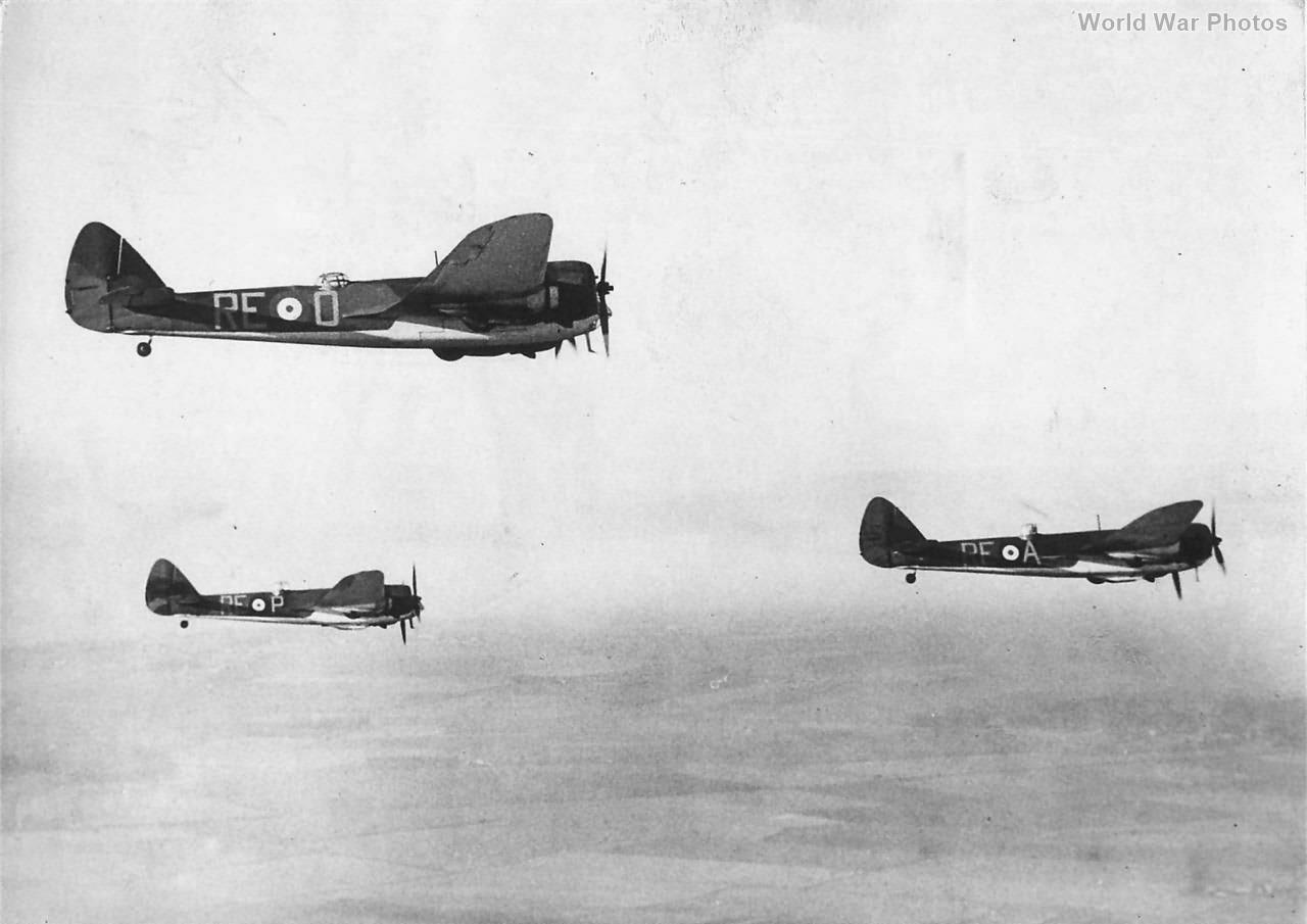 Bristol Blenheim 229 Squadron jan40