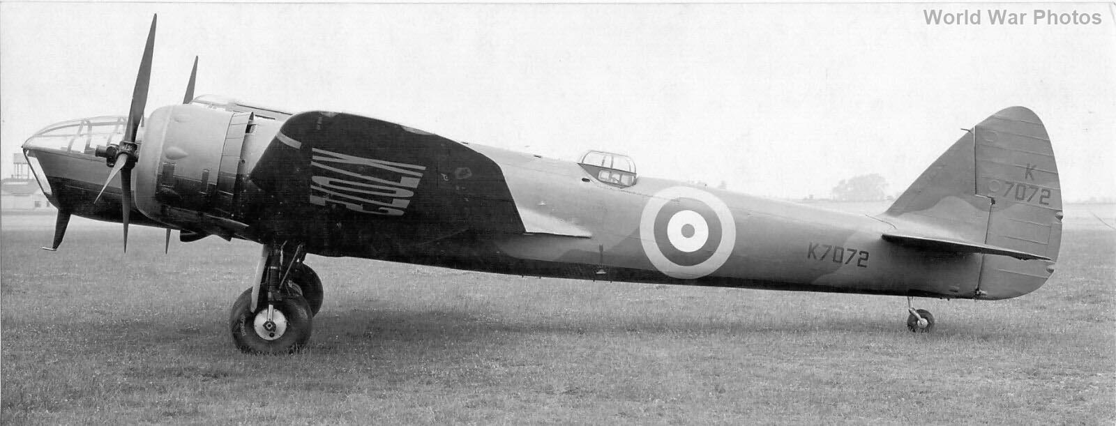 Bristol Blenheim K7072 1939