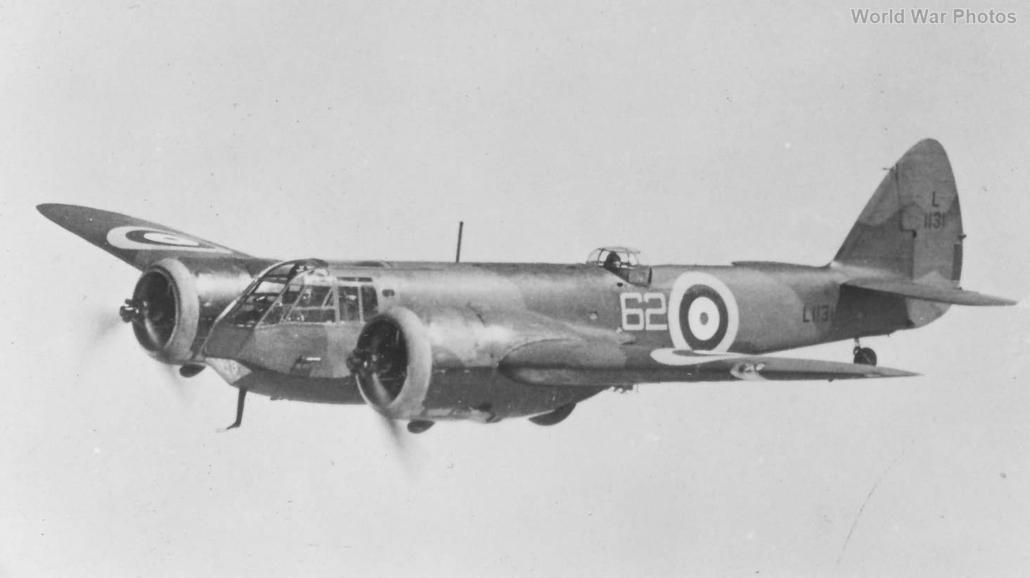 Bristol Blenheim I 62