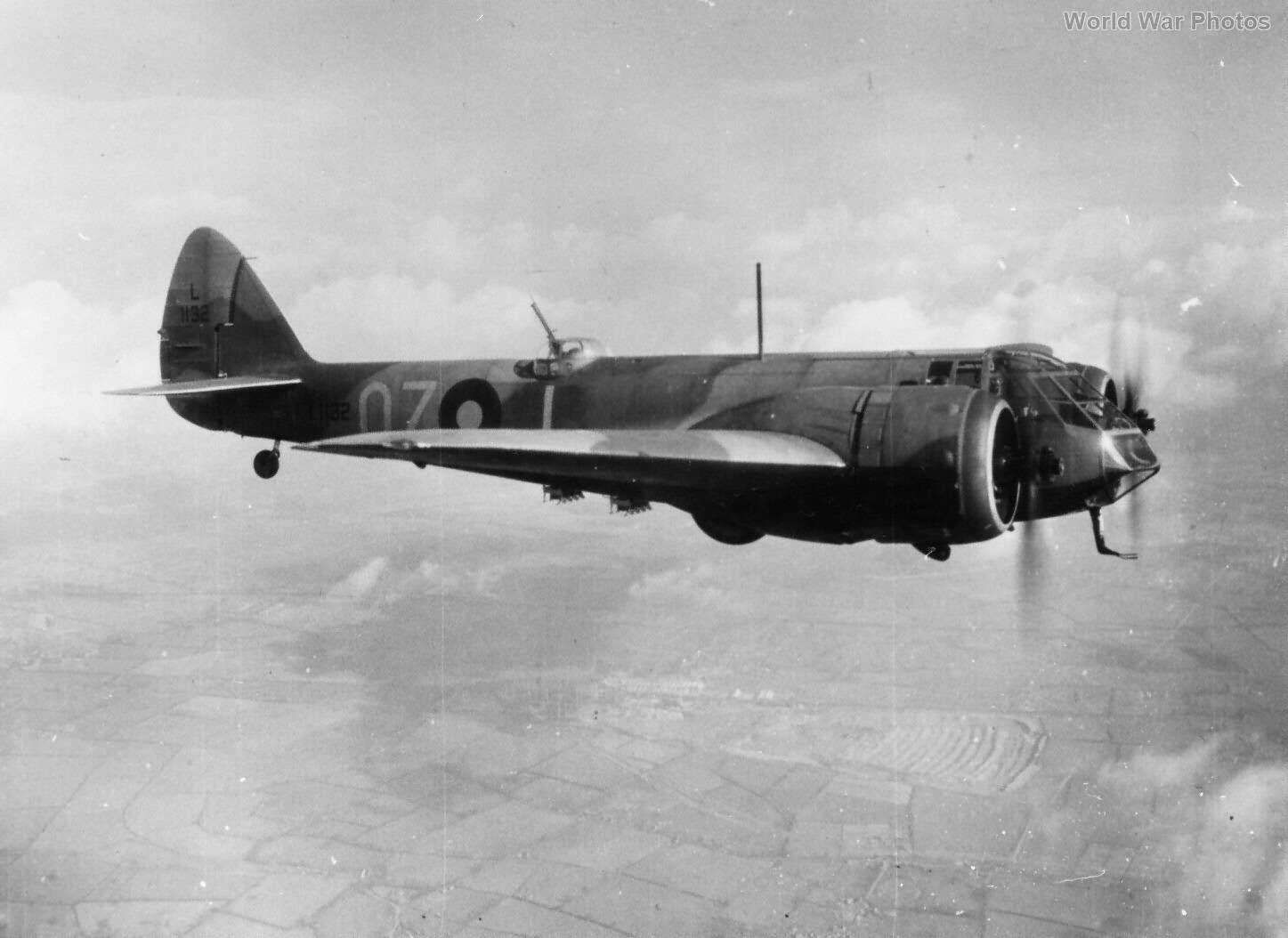 Blenheim L1132 OZ-L 82 Sqn 1939