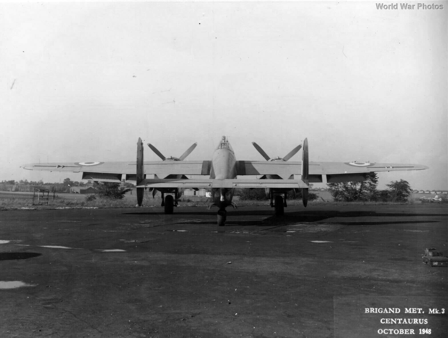 Bristol Brigand Met Mk 3, October 1948