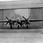 Bristol Buckingham in front of hangar