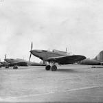 Battle Mk I of No. 12 Operational Training Unit lined up at Benson