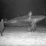 Battle Mk I of No. 226 Sqn being prepared for a night flight at Reims Champagne