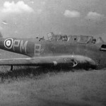 Crashed Fairey Battle PM-B L5234 of No. 103 Squadron RAF