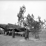 Battle light bomber at a forward airfield in France