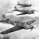 Battles of No. 226 Squadron on a practise flight in 1939