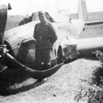 German soldier posing beside a Fairey Battle 1940
