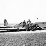 German soldiers inspect wrecked Fairey Battle L5190 PH-P of No. 12 Squadron RAF