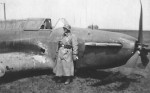 wehrmacht soldier next to a Fairey Battle