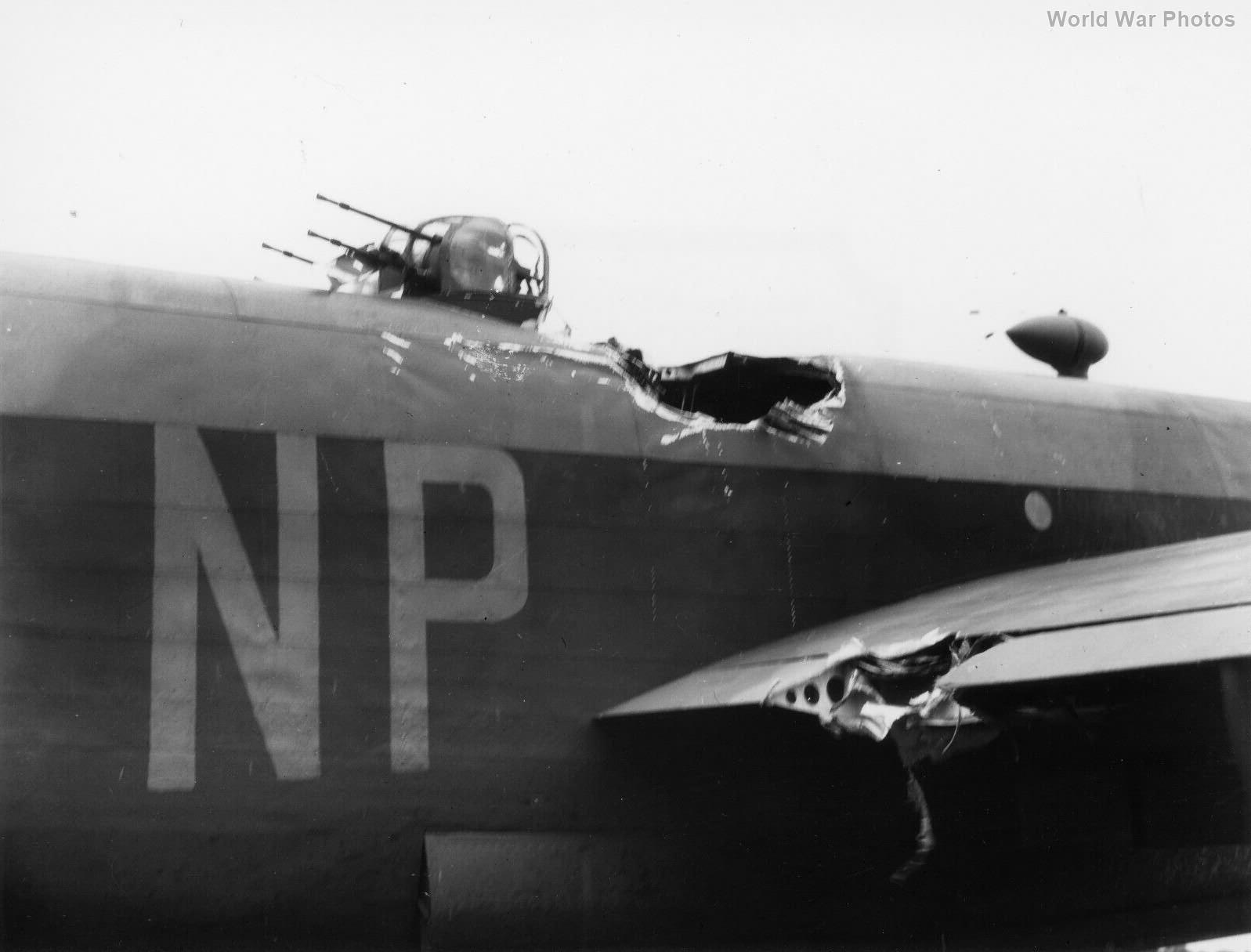 Halifax HR837 NP-F 158 Sqn hit by 1000 lb bomb 3