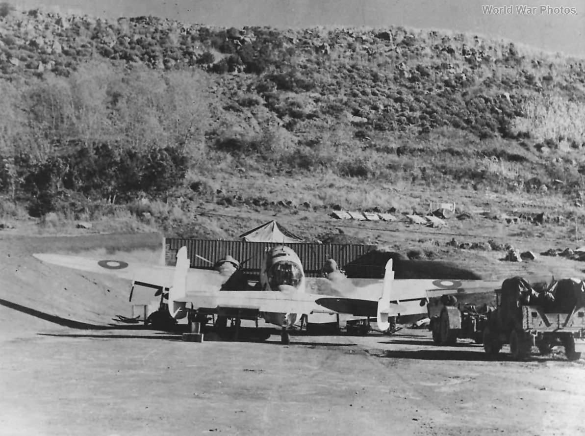 Coastal Command Hudson serviced at Azores Base 1944