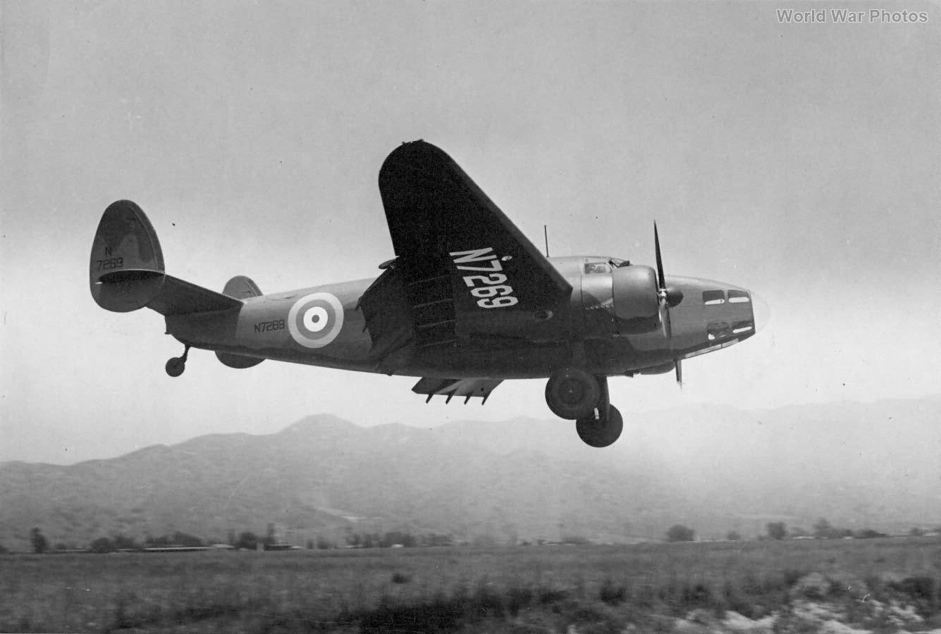 Lockheed Hudson N7269 Burbank 1940