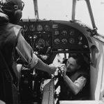 Hudson pilot in cockpit