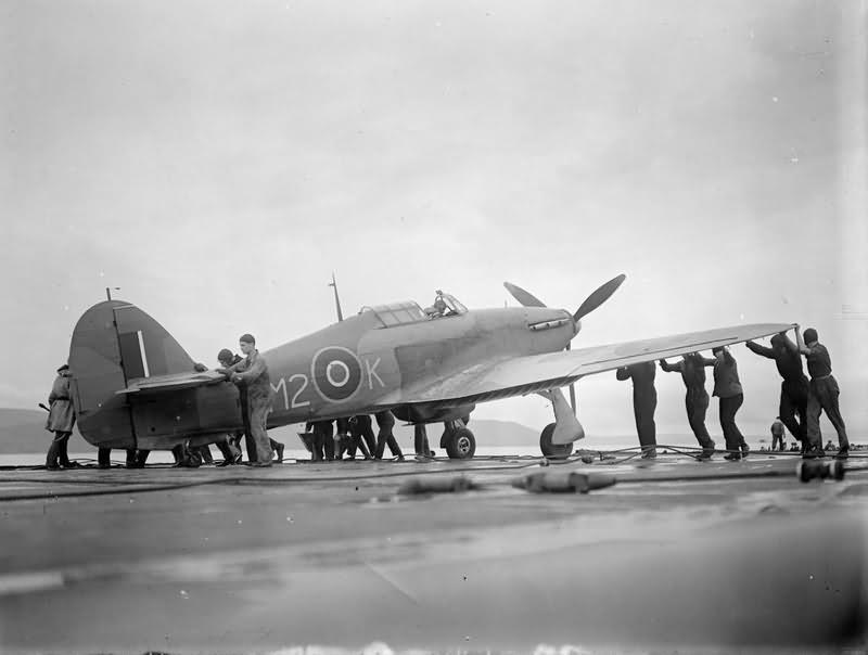 Hurricane M2-K aboard HMS ARGUS 1943
