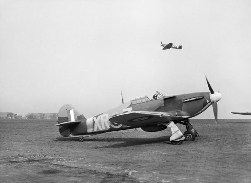 Hurricane Mk I coded XR-Z of No  71 Eagle Squadron takes off