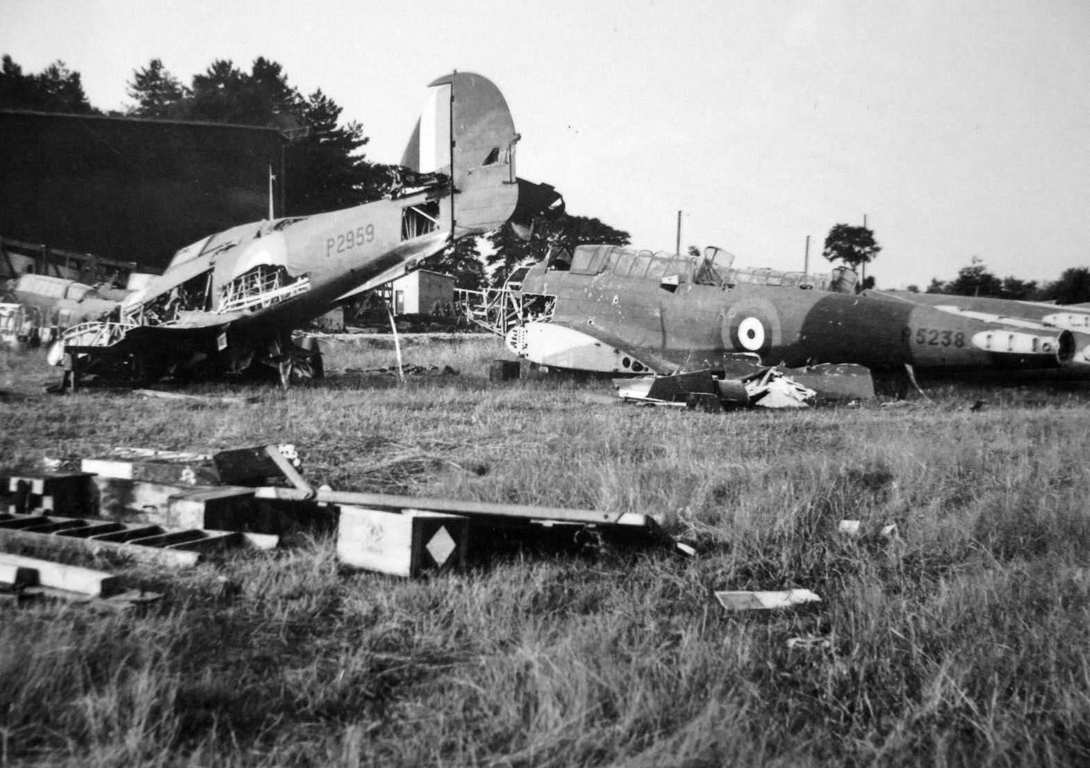 Hawker Hurricane P2959 and Fairey Battle P5238 Épernay Plivot Airfield