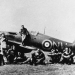33 Squadron in front of Hurricane In Greece Sqn Ldr Pattle 2nd from right