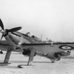 Canadian Hurricane with ski undercarriage 1942