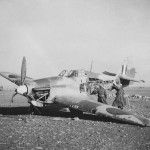 Crashed Hurricane trop and DAK soldiers