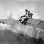Flt Lt Blatchford of No 257 Squadron RAF climbing out of his Hurricane Mk I at Martlesham Heath