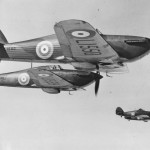 Formation of Hurricane Fighters in flight