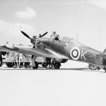 Hurricane Mk IIA Z2961 K of the Malta Night Fighter Unit being refuelled and re armed at Ta Kal Malta