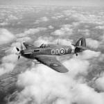 Hurricane Mk IIC BD867 code QO-Y of No 3 Squadron RAF in flight