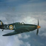 Hurricane Mk IIC BE500 LK-A United Provinces Cawnpore being flown by Sqn Ldr Dennis Smallwood 87 Squadron RAF