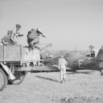 "Hurricane Mk IIC LB941 ""E"" of No 60 Squadron RAF crash landed north of Sadaung Burma"
