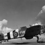 Hurricane Mk IIC LF380 FI-D of No 83 OTU on the ground at Peplow