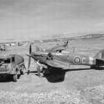 "Hurricane Mk IV KZ188 ""C"" of No. 6 Squadron RAF being refuelled on a dispersal at Prkos Yugoslavia"