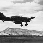 Hurricane Mk IV No 6 Sqn with rockets and drop tanks Greece 1945