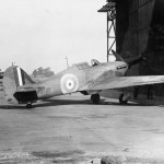Hurricane Mk I P2728 parked outside a hangar at Gosport 1940