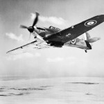 Hurricane Mk I with black and white undersides in flight over Egypt October 1940