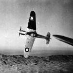 Hurricane Mk I of No 213 Squadron RAF with Black and White underside sover Cyprus 1941