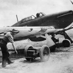 Hurricane Mk I of RAF No 501 Squadron at Betheniville 1940