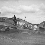 Hurricane Mk X AG111, code HK-G No 59 Operational Training Unit on the ground at Milfield
