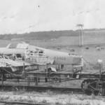 Hurricane Mk I P3403 on railroad flat car